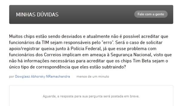 """Desafio lançado pelo canal """"Minhas Dúvidas"""" do site da promoção TIM BETA."""